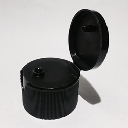 Fliptop Cap - Black - for 4oz & 16oz PET Bottles